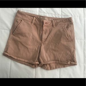 Tan American Eagle shorts